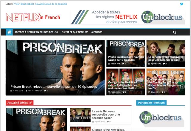 Nouveau Netflix French